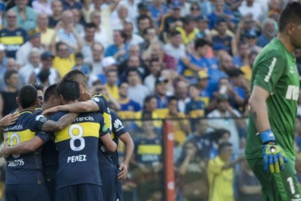 Boca festeja y Orión sufre. El equipo dirigido por Barros Schelotto jugó muy bien y no dejó dudas ante Racing.
