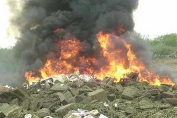 Resultado de imagen para Se realiza una quema récord de droga en forma simultánea en seis provincias
